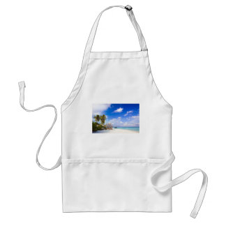 Anchored Offshore Beach Picture Adult Apron