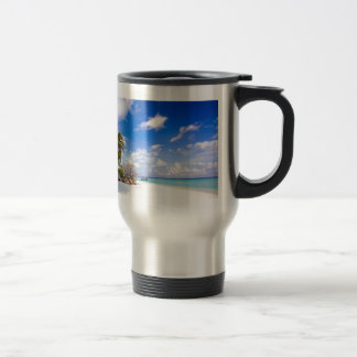 Anchored Offshore Beach Picture Travel Mug