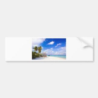 Anchored Offshore the Beach Car Bumper Sticker