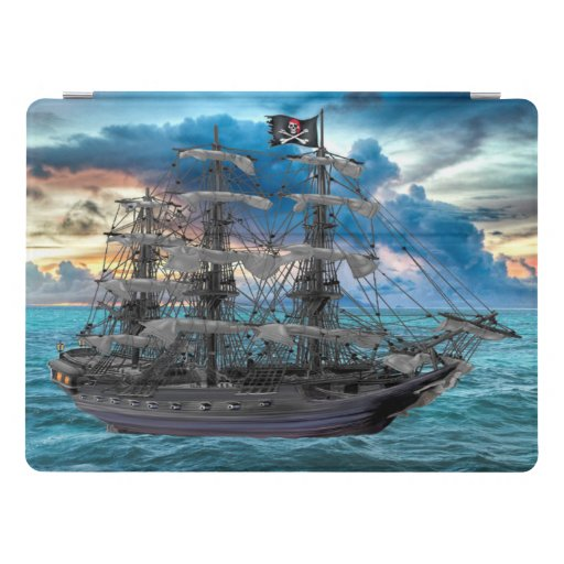 ANCHORED PIRATE SHIP AT SUNSET iPad PRO COVER
