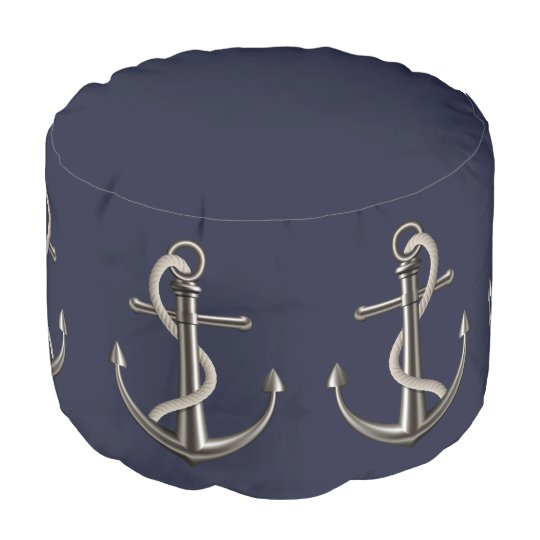 Anchored Rope Pouf Zazzle Awesome Anchor Pouf