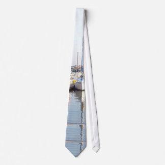 Anchored Sailboats Tie