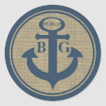 Anchored with Love Classic Round Sticker