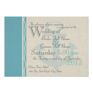 Anchored with Love Ocean Side Wedding Card