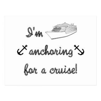 Anchoring for a Cruise Postcard