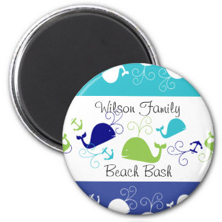 Anchors-a-Whale 2 Inch Round Magnet