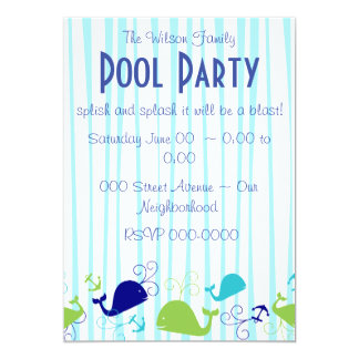 Anchors-a-Whale Personalized Invitation