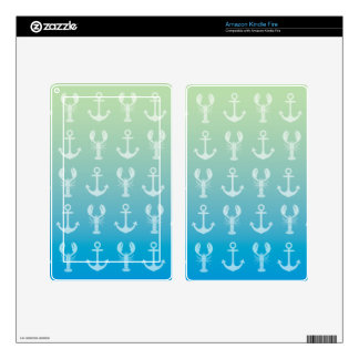 Anchors and Lobsters Kindle Fire Decals