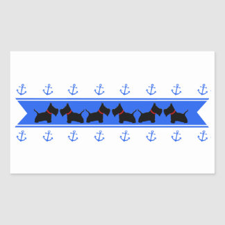Anchors and Scotties Rectangular Sticker