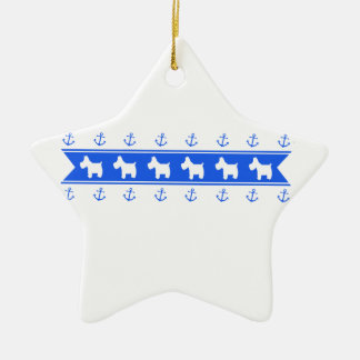 Anchors and Westies Ceramic Ornament