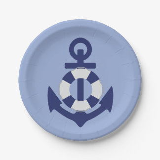 Anchors Away Baby Shower Paper Plates