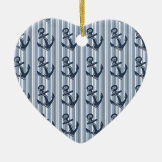 Anchors away! ceramic ornament