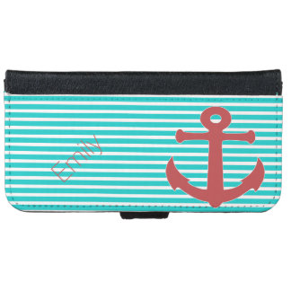 Anchors Away Custom iPhone 6 Wallet Case
