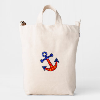 Anchors Away Duck Canvas Bag