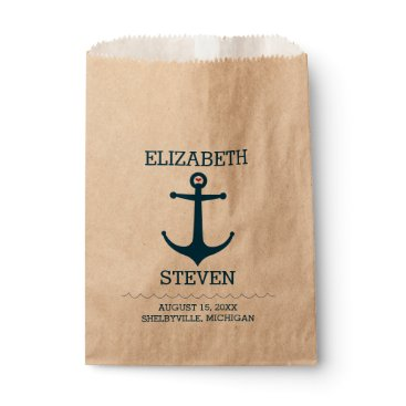 Beach Themed Anchors Away Favor Bag