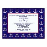 "Anchors Away Invitation 5"" X 7"" Invitation Card"