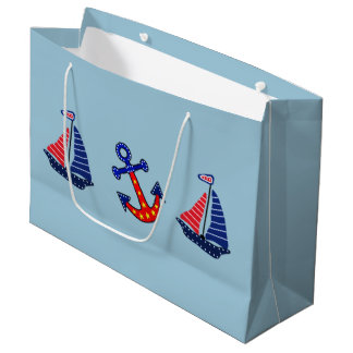 Anchors Away Large Gift Bag