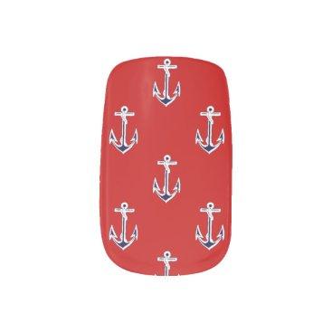 Beach Themed Anchors away minx nail wraps
