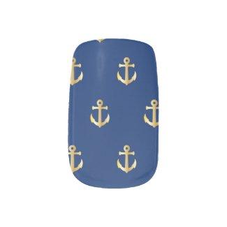Anchors Away Minx Nails