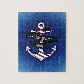 Anchors Away Nautical Print Jigsaw Puzzle