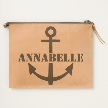 USA Themed Anchors Away One Travel Pouch