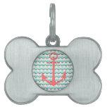 Anchors Away Pet Name Tag