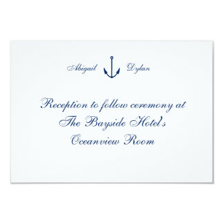 """Anchors Away"" Reception Cards"