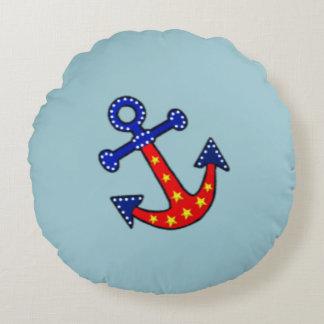 Anchors Away Round Pillow