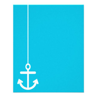 ANCHORS AWAY SAILOR BLUE WHITE VECTOR GRAPHICS BAC FLYER