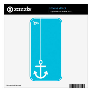 ANCHORS AWAY SAILOR BLUE WHITE VECTOR GRAPHICS BAC SKINS FOR THE iPhone 4S