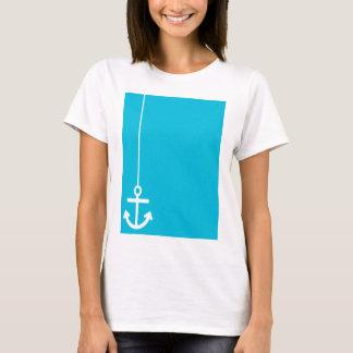 ANCHORS AWAY SAILOR BLUE WHITE VECTOR GRAPHICS BAC T-Shirt
