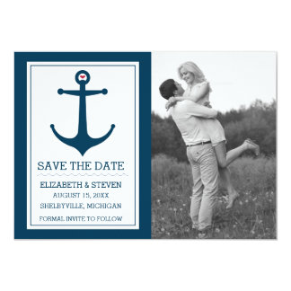 Anchors Away - Save The Date Card