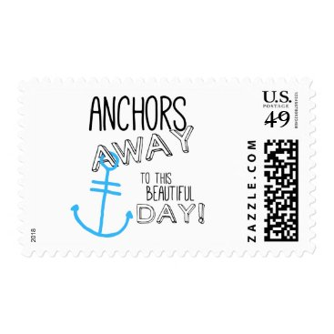 Beach Themed Anchors Away Stamp