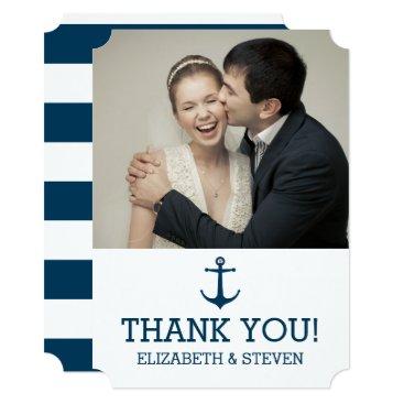 Beach Themed Anchors Away - Thank You Card