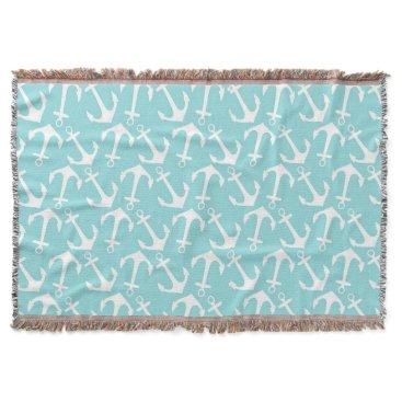 McTiffany Tiffany Aqua Anchors Away Throw Blanket