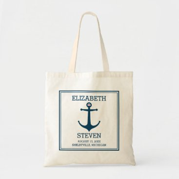 Beach Themed Anchors Away Tote Bag
