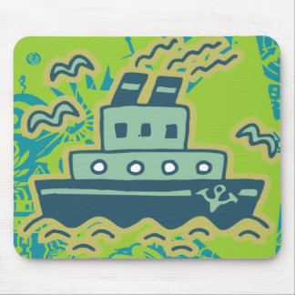 Anchors Away Tugboat Tshirts and GIfts Mouse Pad