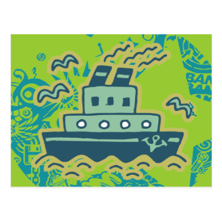 Anchors Away Tugboat Tshirts and GIfts Post Cards