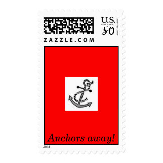 anchors away us postage stamp