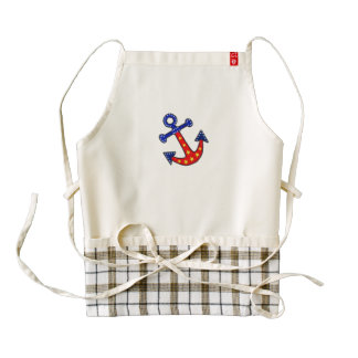 Anchors Away Zazzle HEART Apron