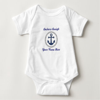 Anchors Aweigh 1 Personalized Baby Bodysuit