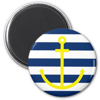 Anchors Aweigh 2 Inch Round Magnet