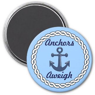 Anchors Aweigh Blue Magnet