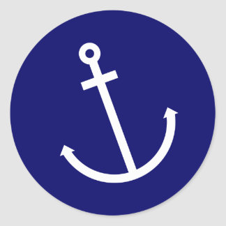 Anchors Aweigh Classic Round Sticker