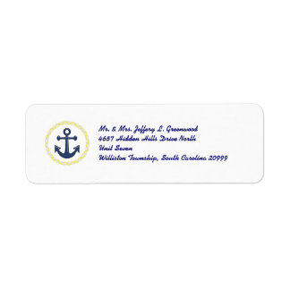 Anchors Aweigh Custom Return Address Label