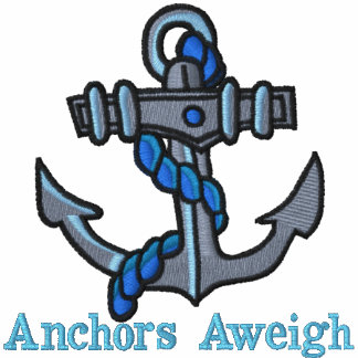Anchors Aweigh Embroidered T shirts Polo Shirt