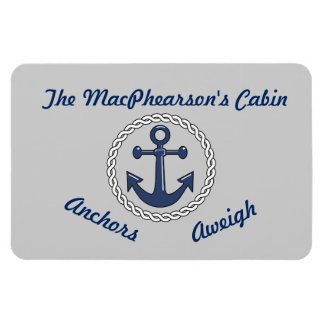 Anchors Aweigh Gray Stateroom Door Marker Magnet