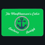 """Anchors Aweigh Green Stateroom Door Marker Green Magnet<br><div class=""""desc"""">Personalize it for the door of your cabin on your next cruise.</div>"""