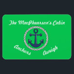 "Anchors Aweigh Green Stateroom Door Marker Green Magnet<br><div class=""desc"">Personalize it for the door of your cabin on your next cruise.</div>"