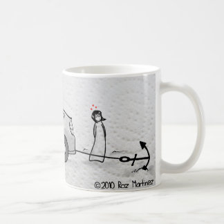 Anchors aweigh classic white coffee mug